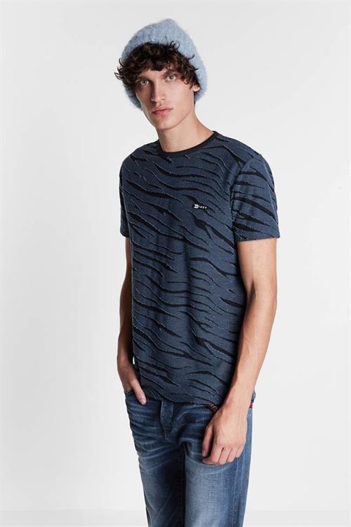 tričko Desigual Boris azul dali