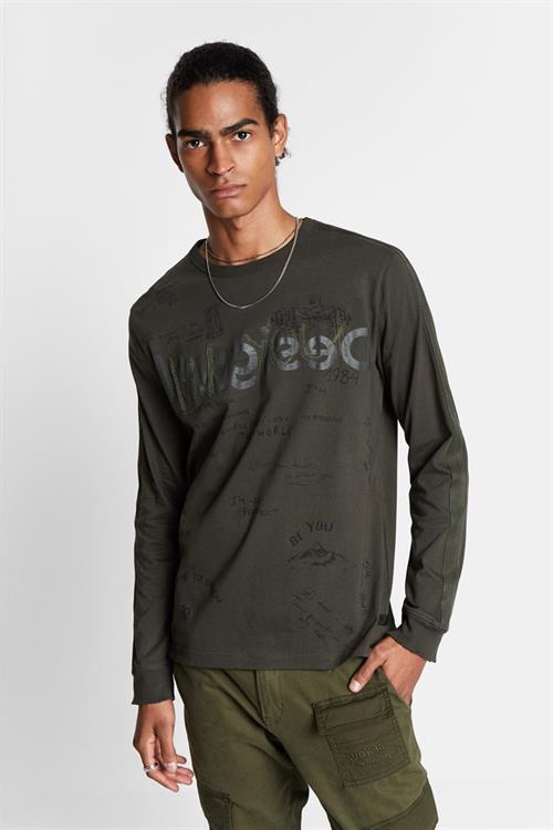 tričko Desigual Ciro verde militar