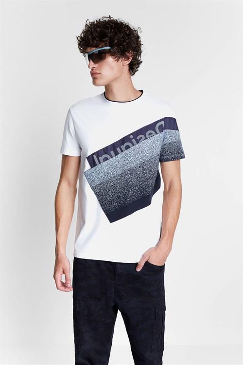 tričko Desigual David crudo