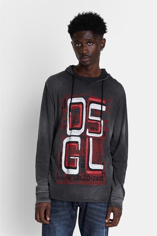 tričko Desigual Felix gris medio