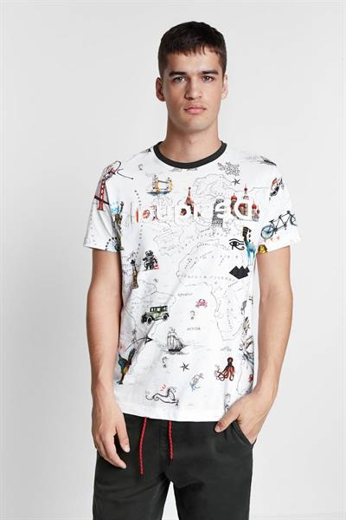 tričko Desigual Victor blanco