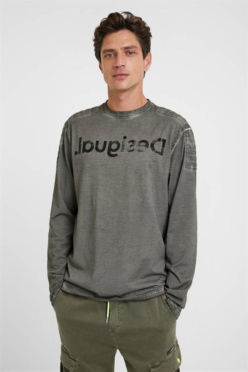 tričko Desigual Hugo neutral gray
