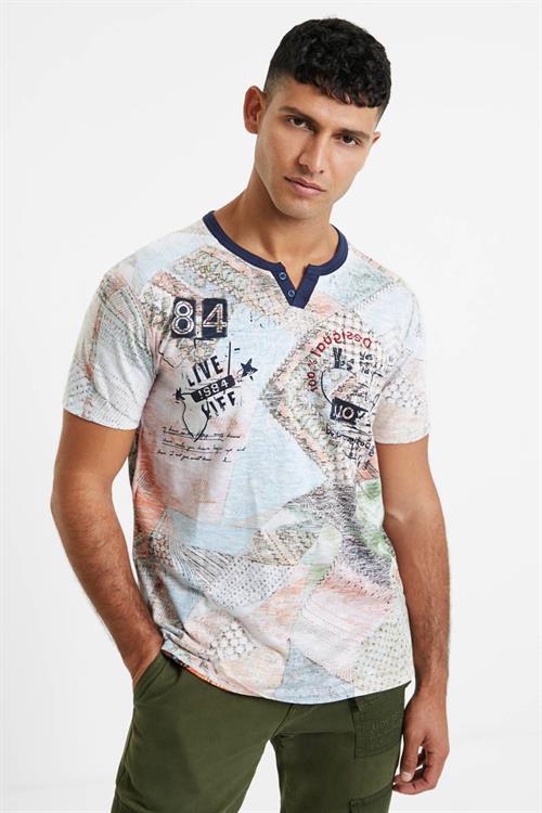 tričko Desigual Ter multicolor fucsia