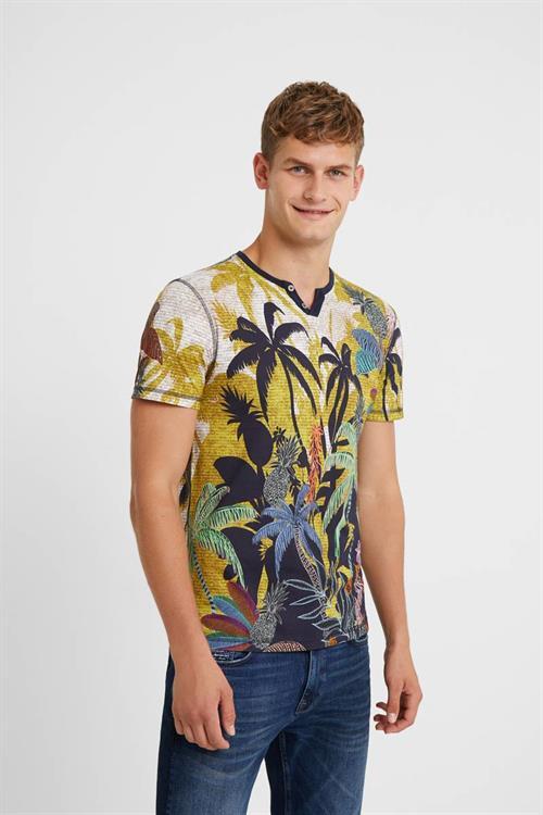 tričko Desigual Lojo amarillo bombay