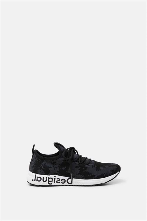 boty Desigual Runner Knit Sock ow negro