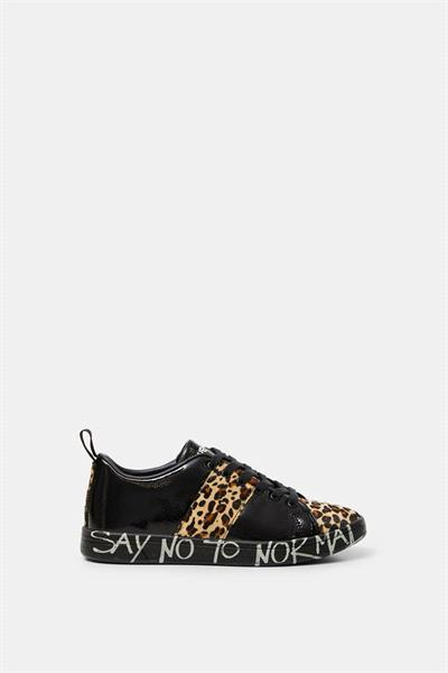 boty Desigual Cosmic Leopard negro
