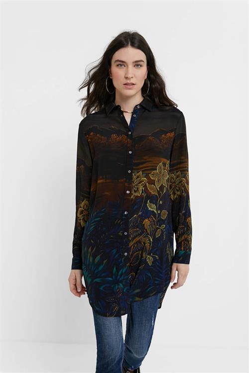 košile Desigual Rin negro