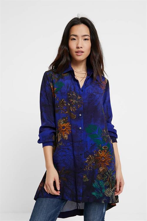 košile Desigual Tamesis azul niza