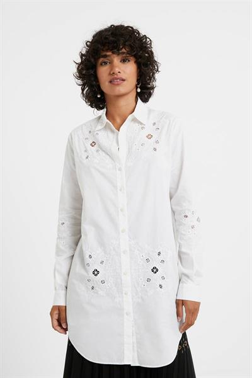 košeľa Desigual Garona blanco