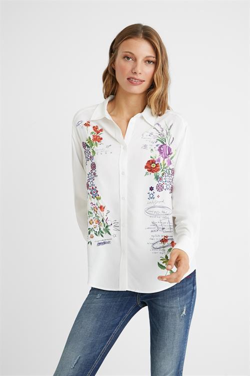 košeľa Desigual Genova blanco