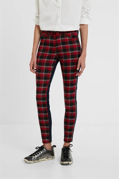 kalhoty Desigual Check Jeans rojo