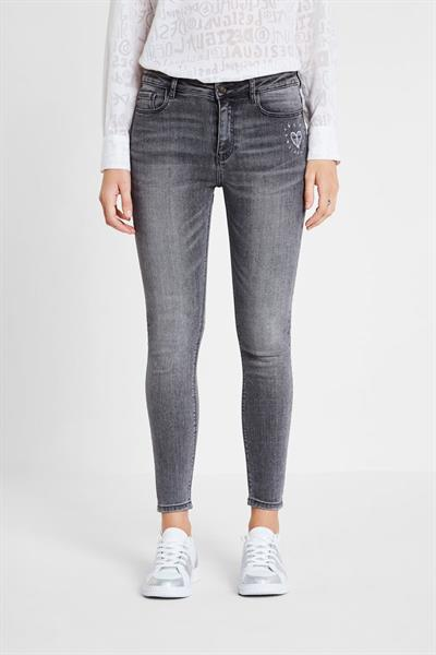 jeansy Desigual Alba denim dark grey