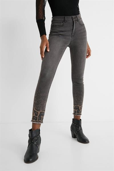 džínsy Desigual Shelley denim dark grey