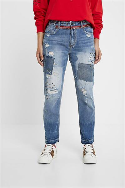 džínsy Desigual West denim medium wash