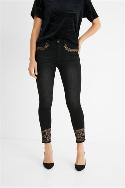 džínsy Desigual Floyer black denim