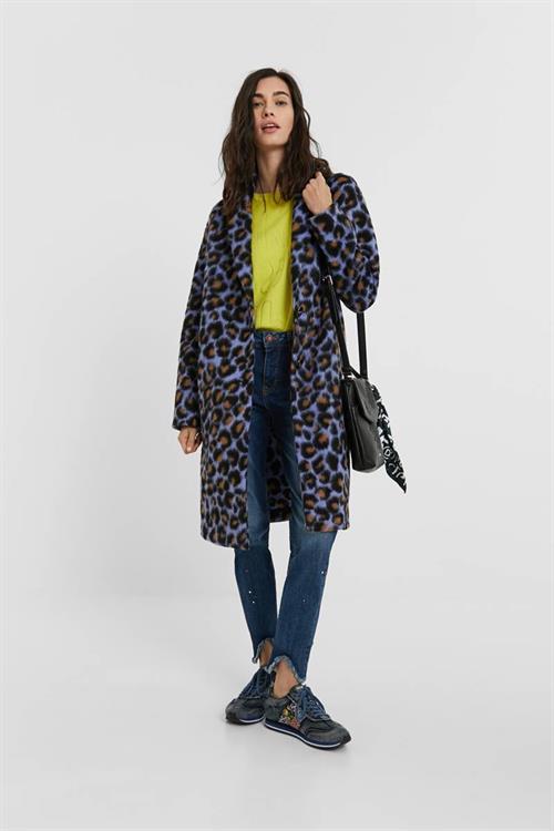 kabát Desigual Axe lila palo
