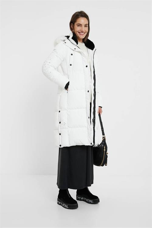 kabát Desigual Katia blanco