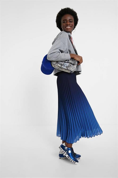 sukňa Desigual Darwin estate blue