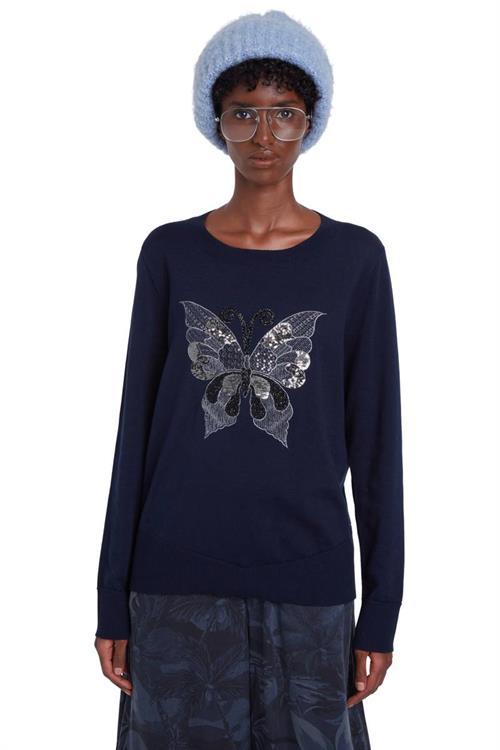svetr Desigual Butterfly marino