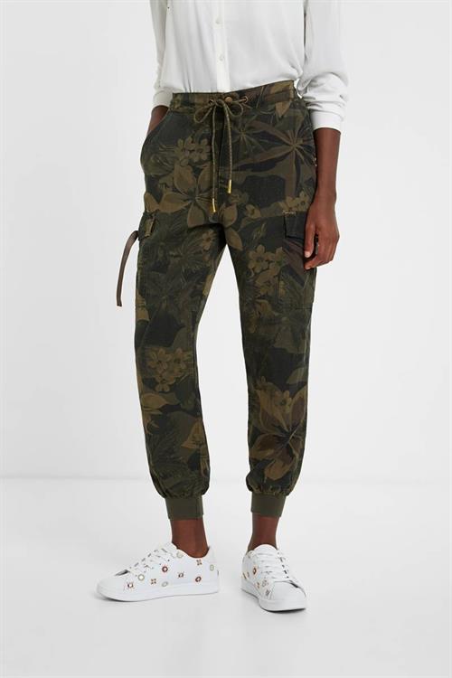 kalhoty Desigual Malala verde militar
