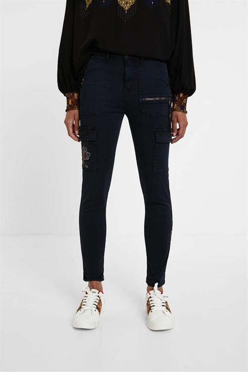 kalhoty Desigual Velutti navy