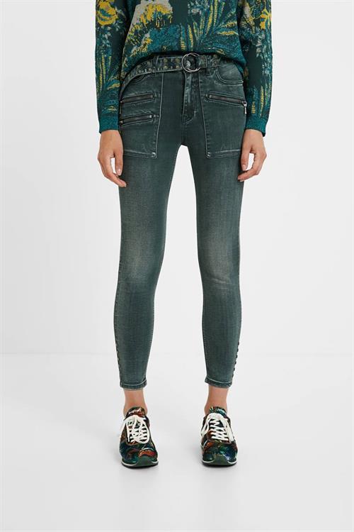 jeansy Desigual Luci verde oscuro