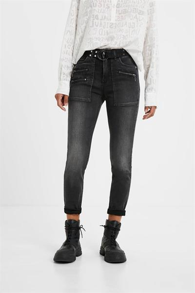 džínsy Desigual Luci denim black wash