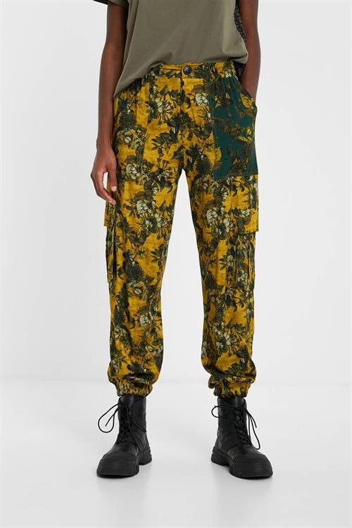 kalhoty Desigual Minerva amarillo tijuana