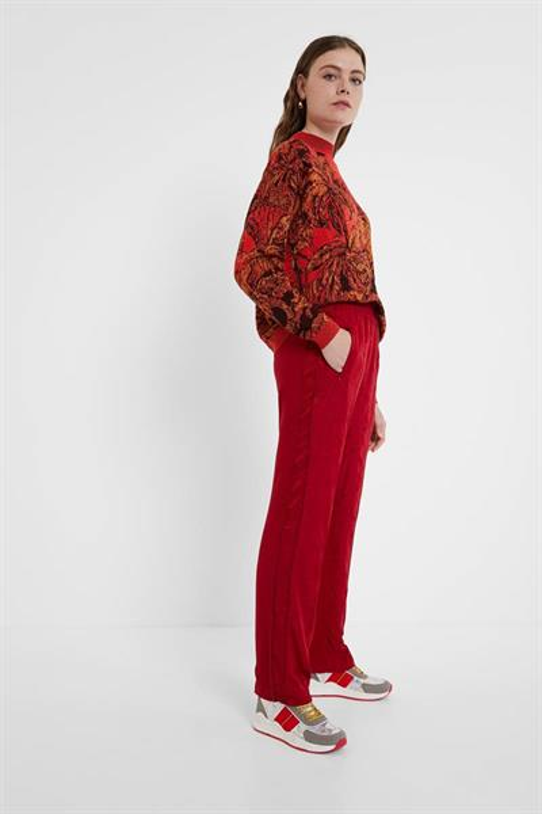 kalhoty Desigual Olimpia rose red