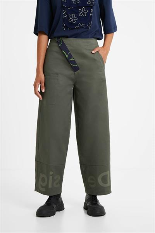 kalhoty Desigual Ariane verde oliva