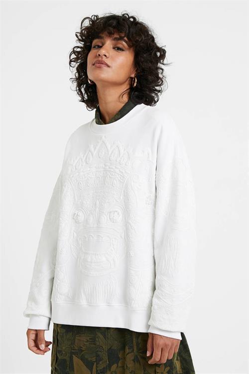 mikina Desigual Dragon blanco