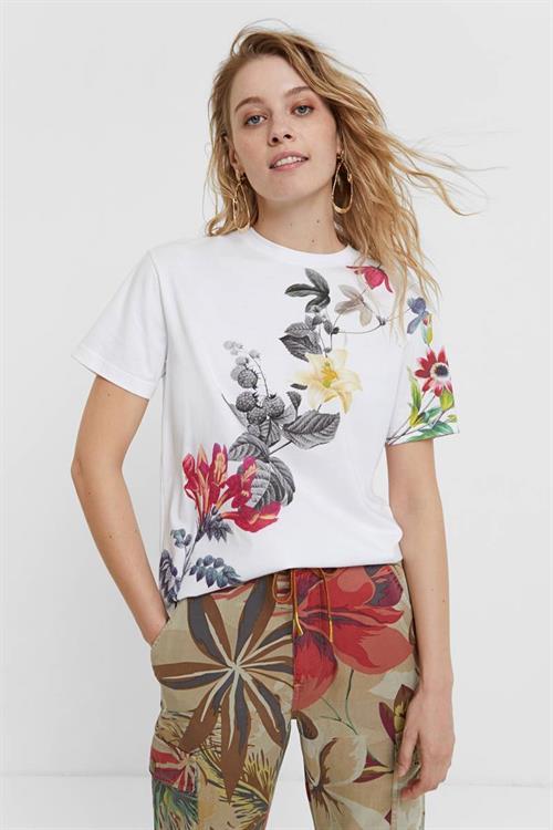 tričko Desigual Yaiza blanco