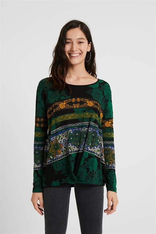 tričko Desigual Yess verde botella