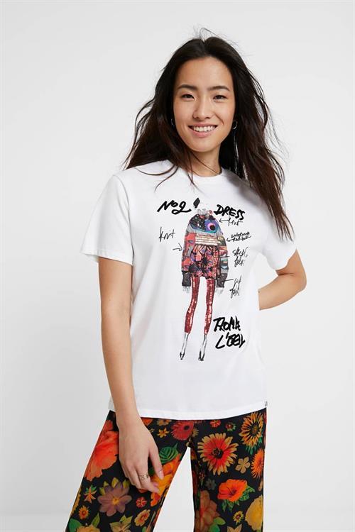 tričko Desigual Viena blanco