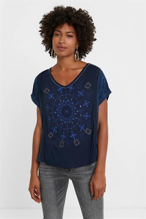 tričko Desigual Detroit marino