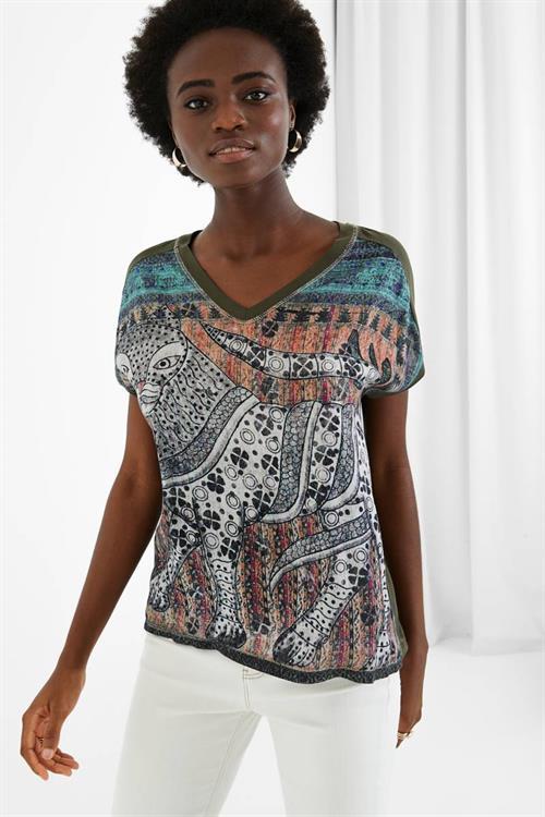 tričko Desigual Anuki boaba