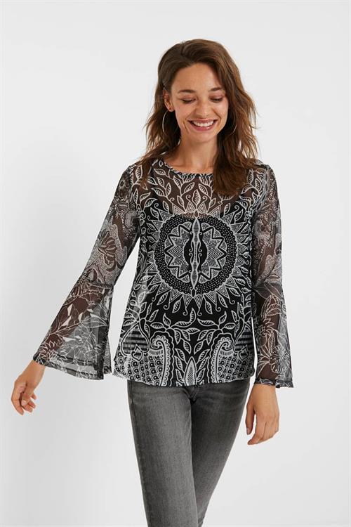 tričko Desigual Dijon negro