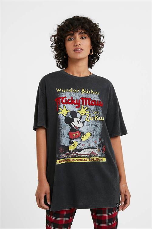 tričko Desigual Vintage Mickey gris medio