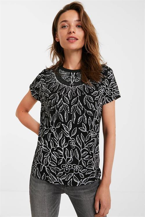 tričko Desigual Dieguita negro
