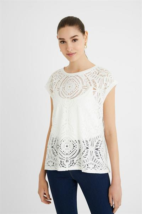 tričko Desigual Nilo blanco