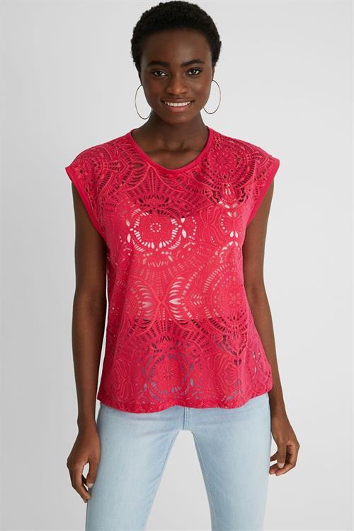 tričko Desigual Nilo raspberry