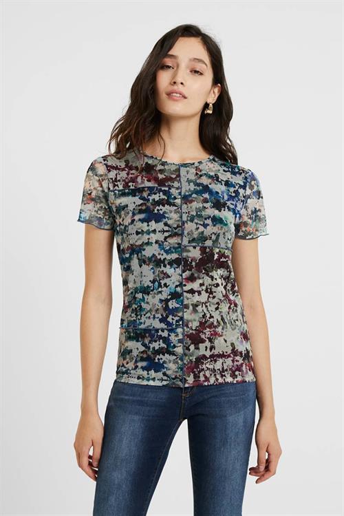 tričko Desigual Molsa azul cielo
