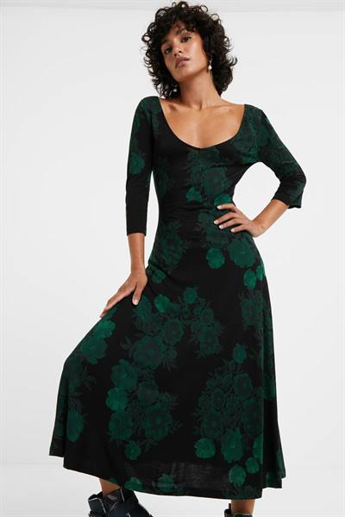 šaty Desigual Yess verde botella
