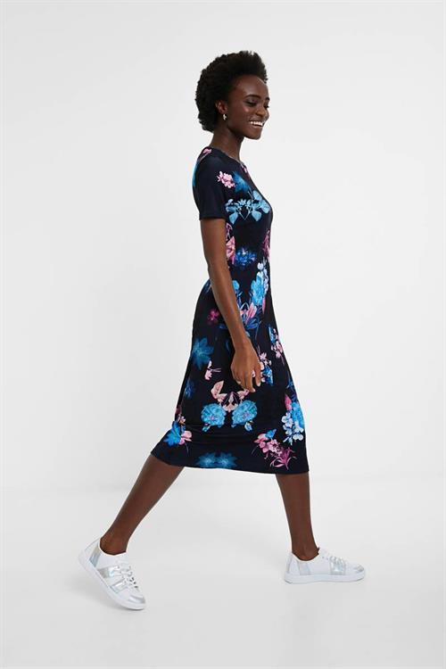šaty Desigual Bouquet navy