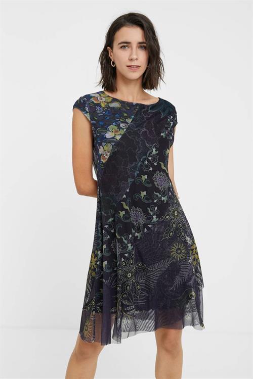 šaty Desigual Houston azul grisaceo