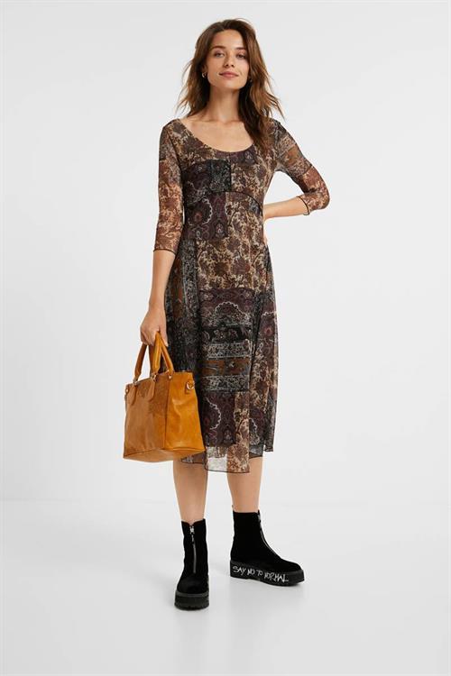 šaty Desigual Kerala marron