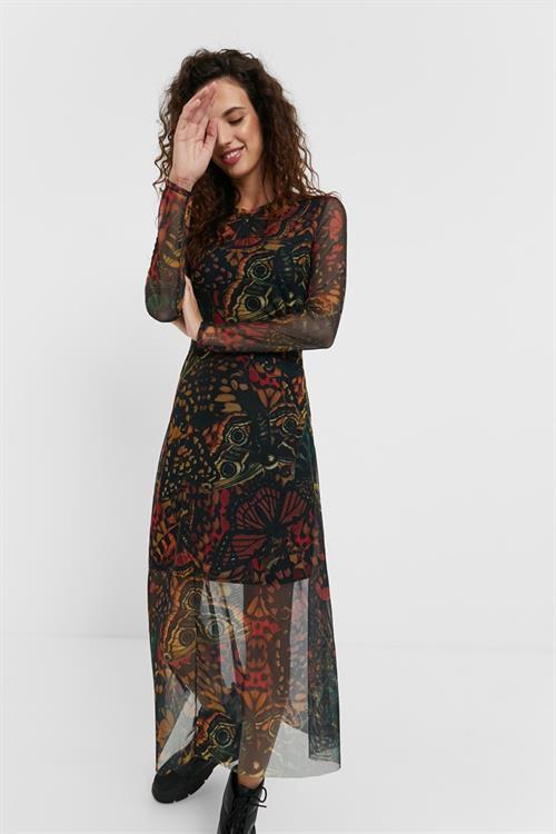 šaty Desigual Pitavoles kaki oscuro