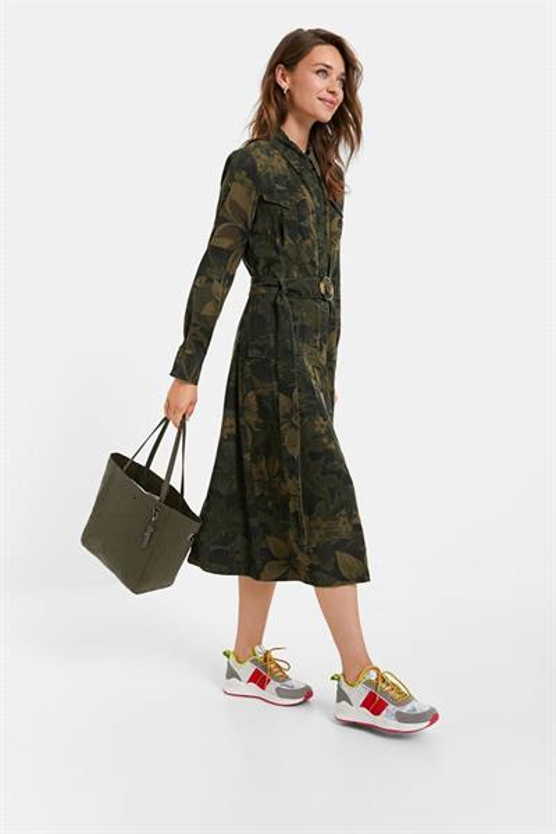šaty Desigual Montse verde militar
