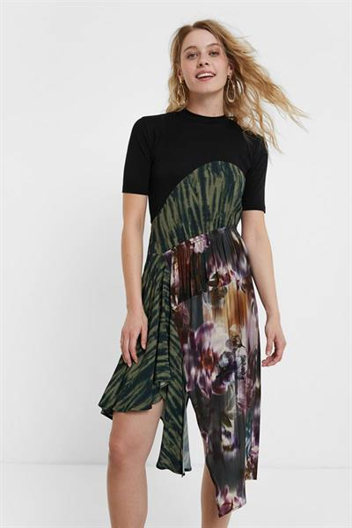 šaty Desigual Taipei negro