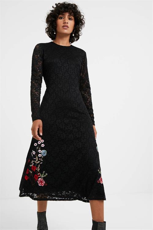 šaty Desigual Venecia negro